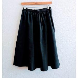 Zara Black Polyester Skirt Size Small